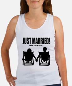 Just Married | Personalized wedding Tank Top