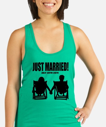Just Married | Personalized Racerback Tank Top