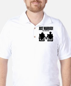 Just Married | Personalized wedding Golf Shirt