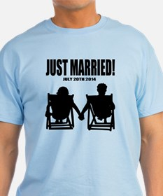 Just Married | Personalized Newlyweds T-Shirt