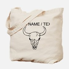 Custom Longhorn Skull Tote Bag