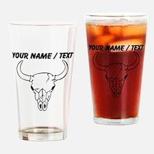 Custom Longhorn Skull Drinking Glass