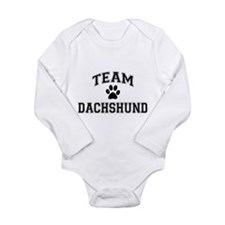 Team Dachshund Long Sleeve Infant Bodysuit