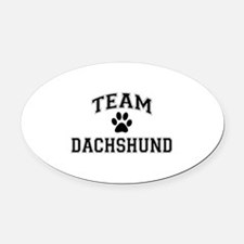 Team Dachshund Oval Car Magnet