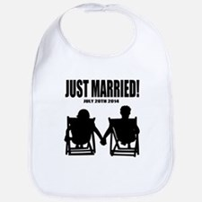 Just Married | Personalized wedding Bib
