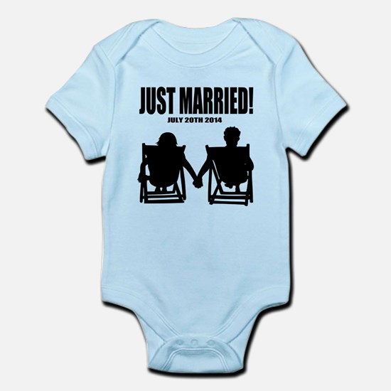 Just Married | Personalized wedding Body Suit