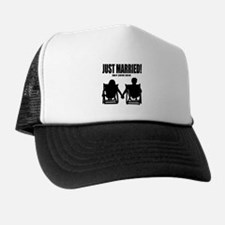 Just Married   Personalized wedding Trucker Hat