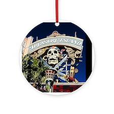 Treasure Island Sign Ornament (Round)