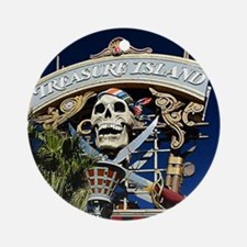 Treasure Island Sign Ornament (Round)