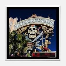Treasure Island Sign Tile Coaster