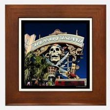 Treasure Island Sign Framed Tile