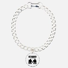 Just Married | Personalized wedding Bracelet