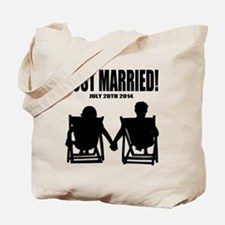 Just Married | Personalized wedding Tote Bag