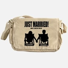 Just Married | Personalized wedding Messenger Bag