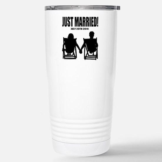 Just Married | Personalized wedding Travel Mug