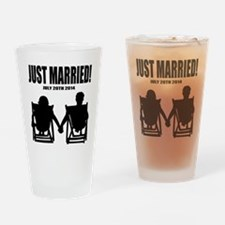 Just Married | Personalized wedding Drinking Glass