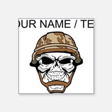 Custom Soldier Skull Sticker