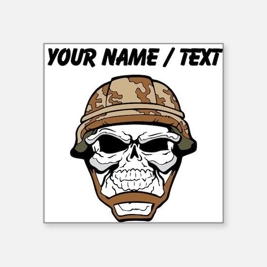 Custom Soldier Skull Sticker