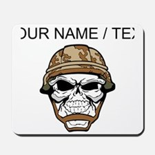 Custom Soldier Skull Mousepad