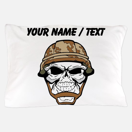 Custom Soldier Skull Pillow Case