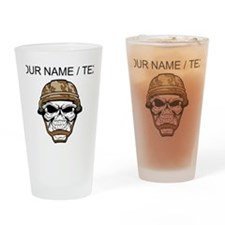 Custom Soldier Skull Drinking Glass
