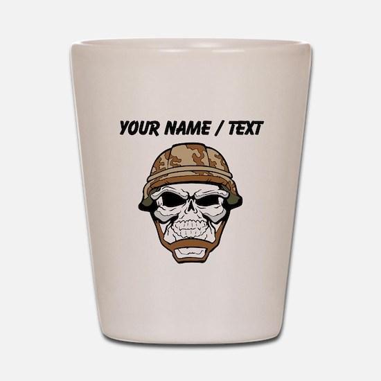 Custom Soldier Skull Shot Glass