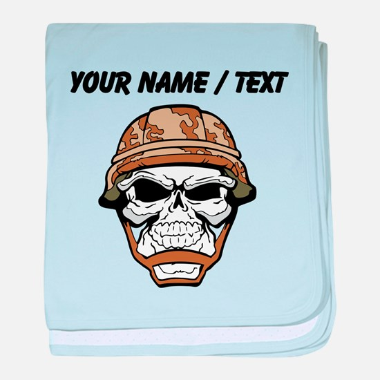 Custom Soldier Skull baby blanket