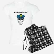Custom Policeman Skull Pajamas