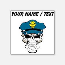 Custom Policeman Skull Sticker