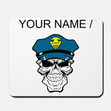 Custom Policeman Skull Mousepad