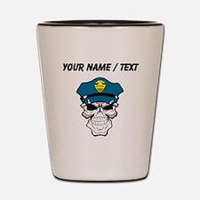 Custom Policeman Skull Shot Glass