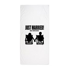 Just Married | Personalized wedding Beach Towel