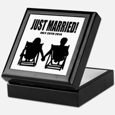 Just Married | Personalized wedding Keepsake Box