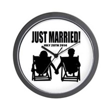 Just Married | Personalized wedding Wall Clock