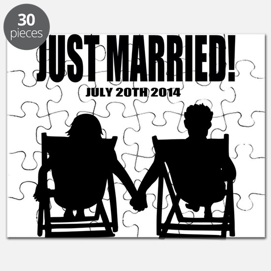 Just Married | Personalized wedding Puzzle
