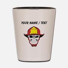 Custom Fireman Skull Shot Glass