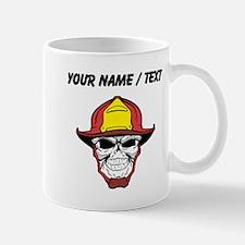 Custom Fireman Skull Mugs