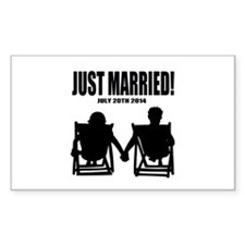 Just Married | Personalized wedding Decal