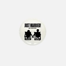 Just Married | Personalized wedding Mini Button (1