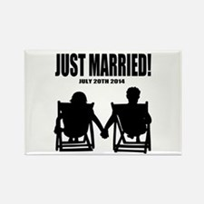 Just Married   Personalized wedding Magnets