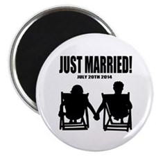 Just Married | Personalized wedding Magnets