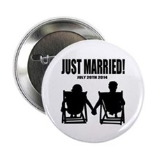 "Just Married | Personalized wedding 2.25"" Button"