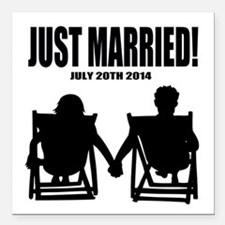 Just Married | Personalized wedding Square Car Mag