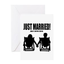 Just Married   Personalized wedding Greeting Cards