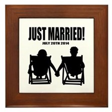Just Married | Personalized wedding Framed Tile