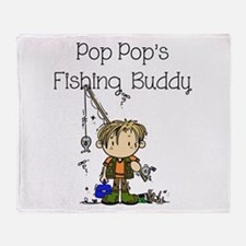 Pop Pop's Fishing Buddy Throw Blanket