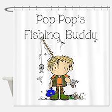 Pop Pop's Fishing Buddy Shower Curtain