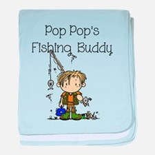 Pop Pop's Fishing Buddy baby blanket