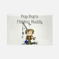 Pop Pop's Fishing Buddy Rectangle Magnet