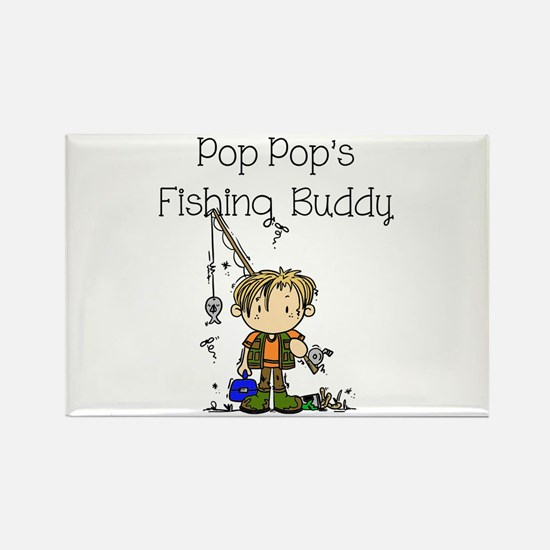 Pop Pop's Fishing Buddy Rectangle Magnet